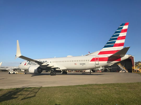 Grounded planes at Orlando Melbourne International Airport
