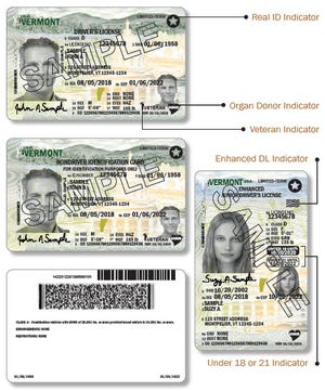 The Vermont Department of Motor Vehicles send a sample of what the new license offing a third gender will look like.