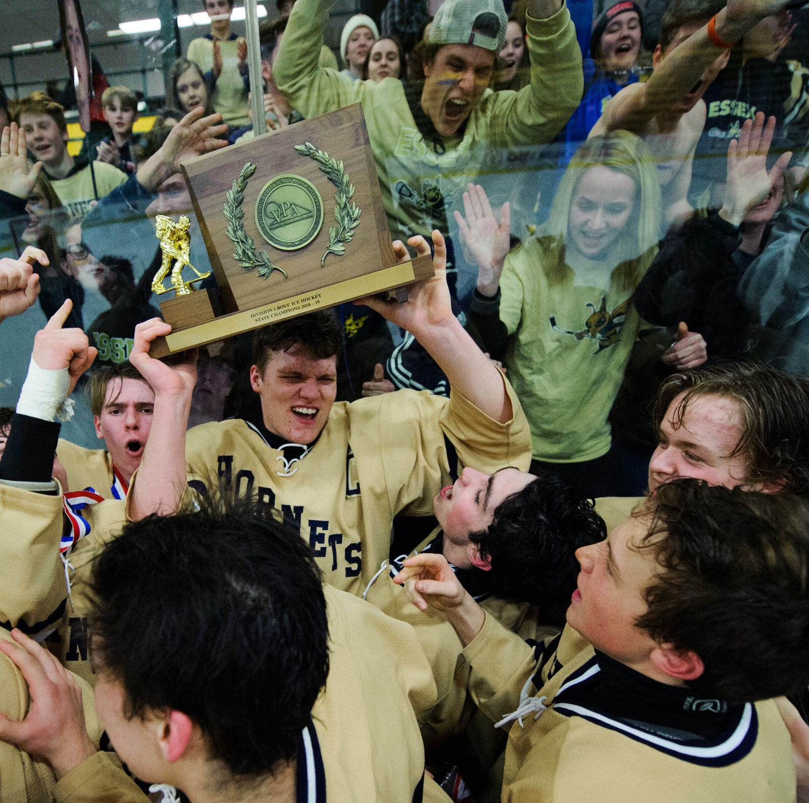 Essex sails past Rice 5-0 for second straight D-I boys hockey title