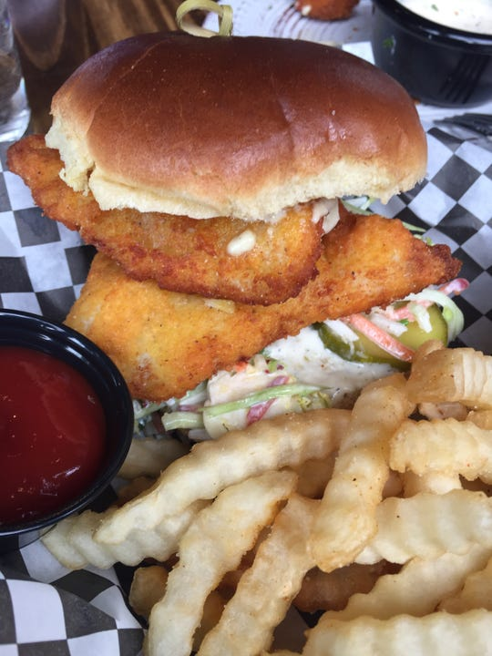 The catfish sandwich at Fiery Hen on Court Street, Downtown