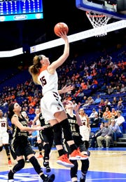 Lauren Schwartz, a senior at Larry A. Ryle High School, attributes a good basketball season to a injury recovery and prevention plan that her athletic trainer developed with the use of a new database on injuries.