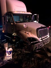 Police said they pursued a semi tractor-trailer through three states Wednesday before arresting the driver.