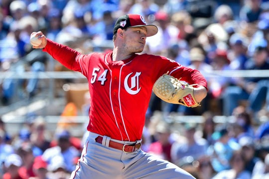 Cincinnati Reds pitcher Sonny Gray (54) pitches during the second inning against the Los Angeles Dodgers at Camelback Ranch.