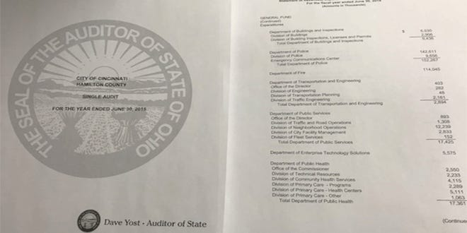 The city of Cincinnati's latest financial audit is out.