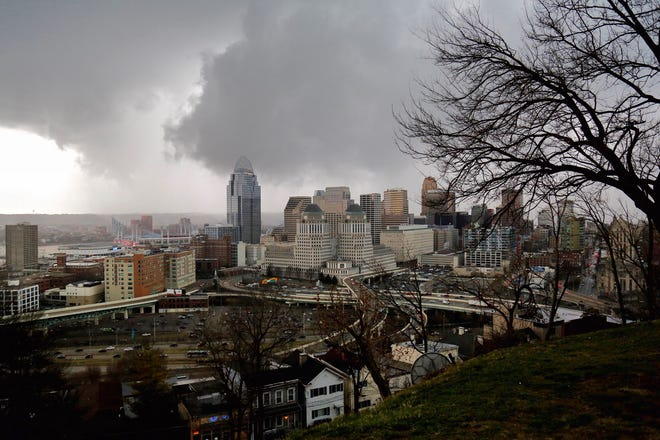 View from Mount Adams, Thursday, March 14.