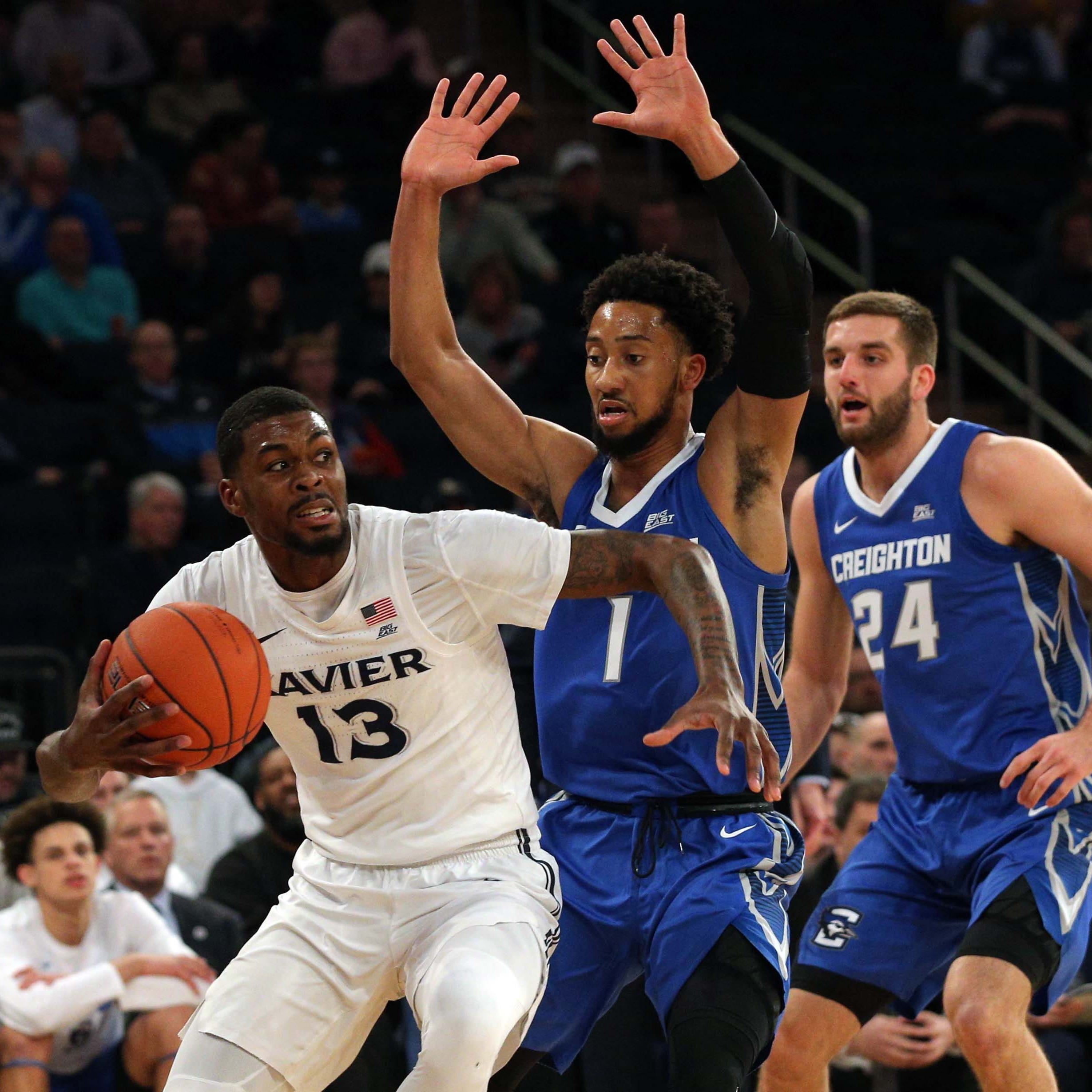 Xavier beats Creighton in the final minute to advance in the Big East Tournament