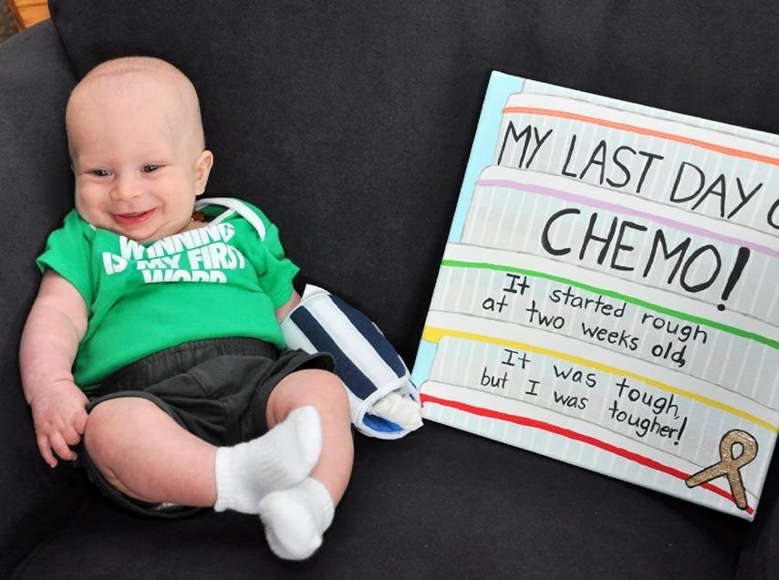 """The Pepin family of Sayreville has two of their three young children diagnosed with Retinoblastoma, a rare eye cancer. Diagnosed at just 15 days old, EverettPepin, now 3, (pictured) is currently in remission. His11-month-old sister Rory — short for Lorelai — was diagnosed at sixmonths and just finished her last chemotherapytreatment on Feb. 28.On March 23, Sayreville PBA Local #98 will host the """"Battle of the Borough"""" —abasketball gameto benefit the Pepins."""