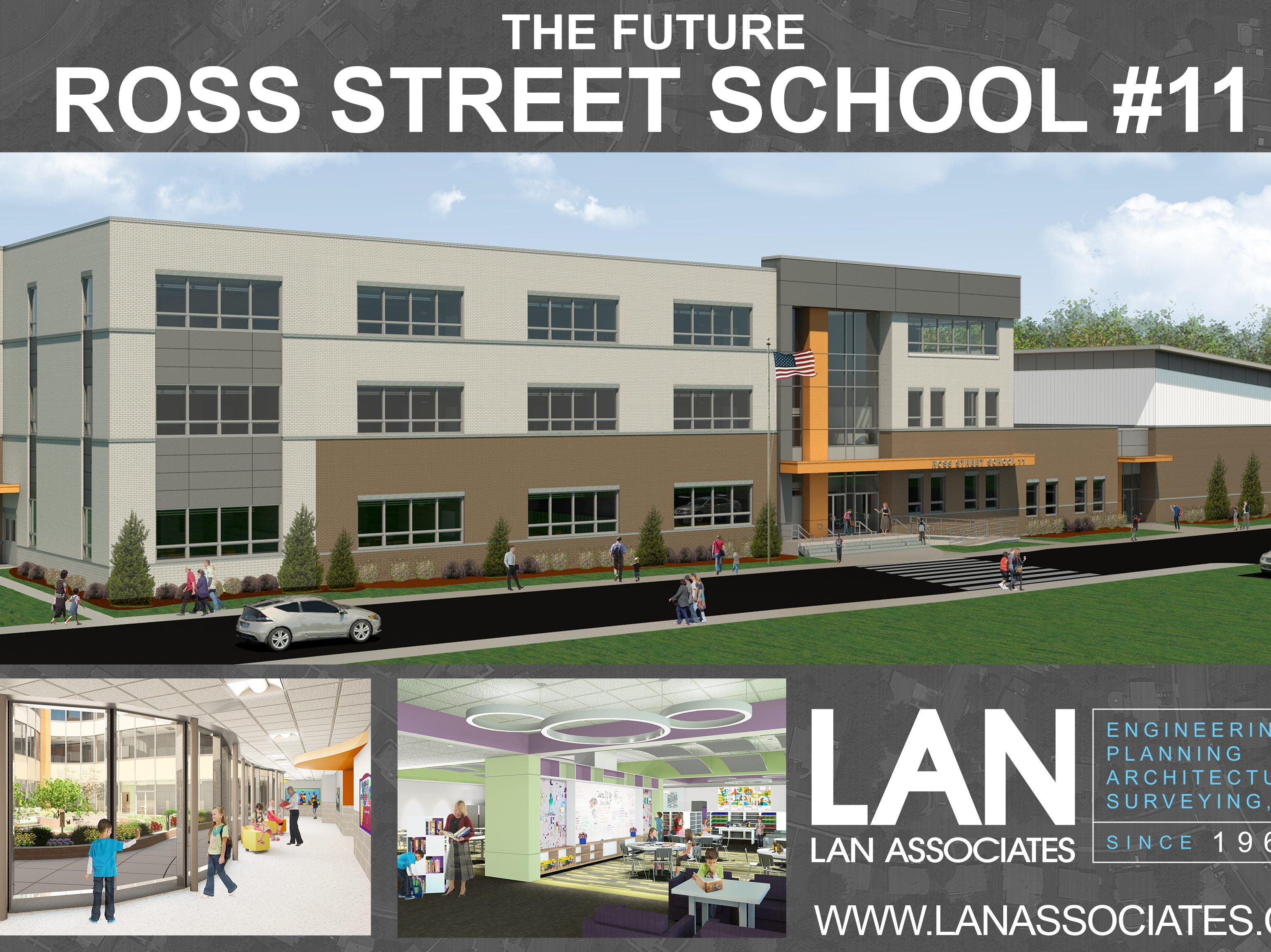 A rendering of the future Ross Street School in downtown Woodbridge.