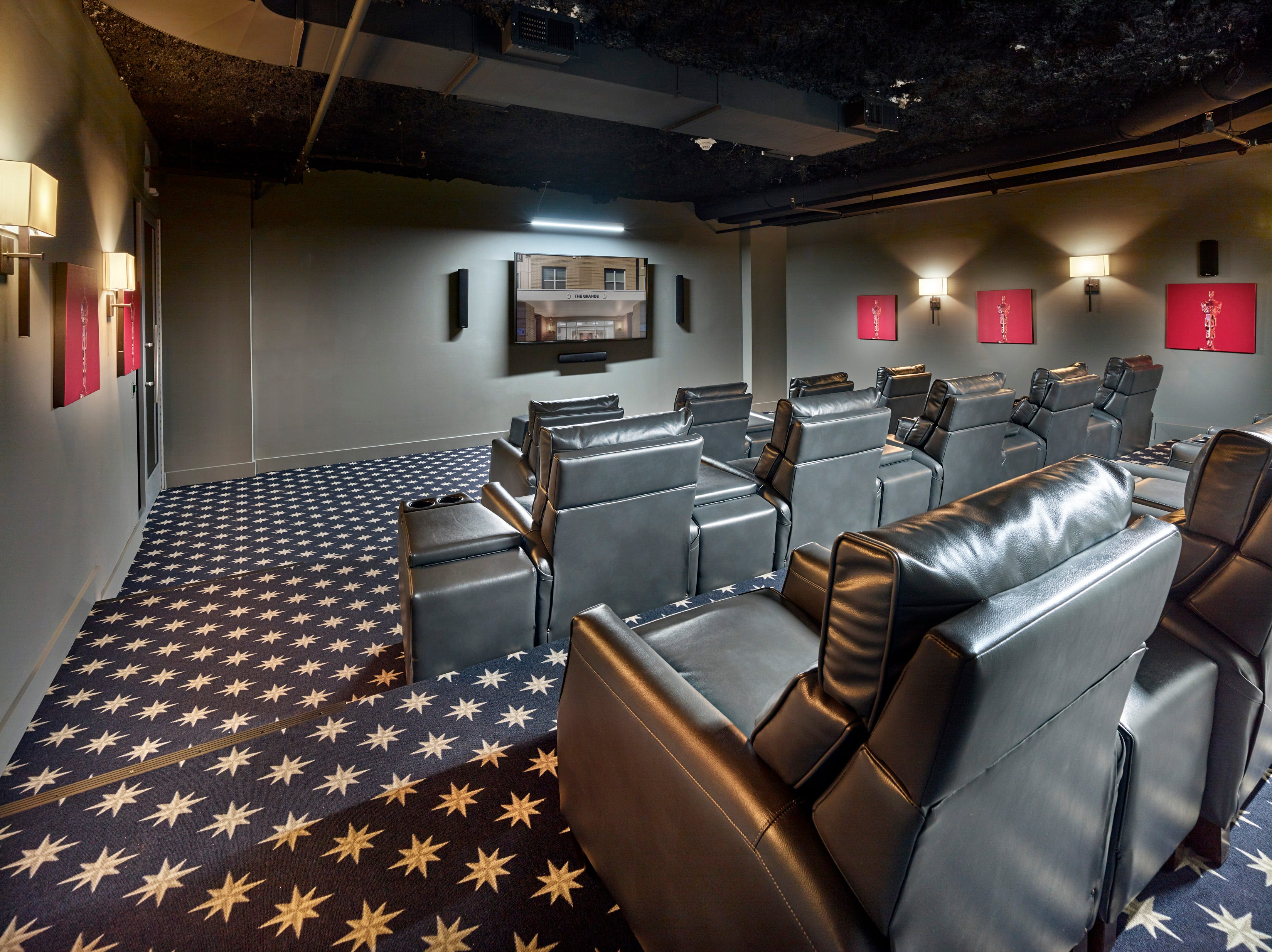 The movie theater at The Grande at Metropark in the Iselin section of Woodbridge Township.