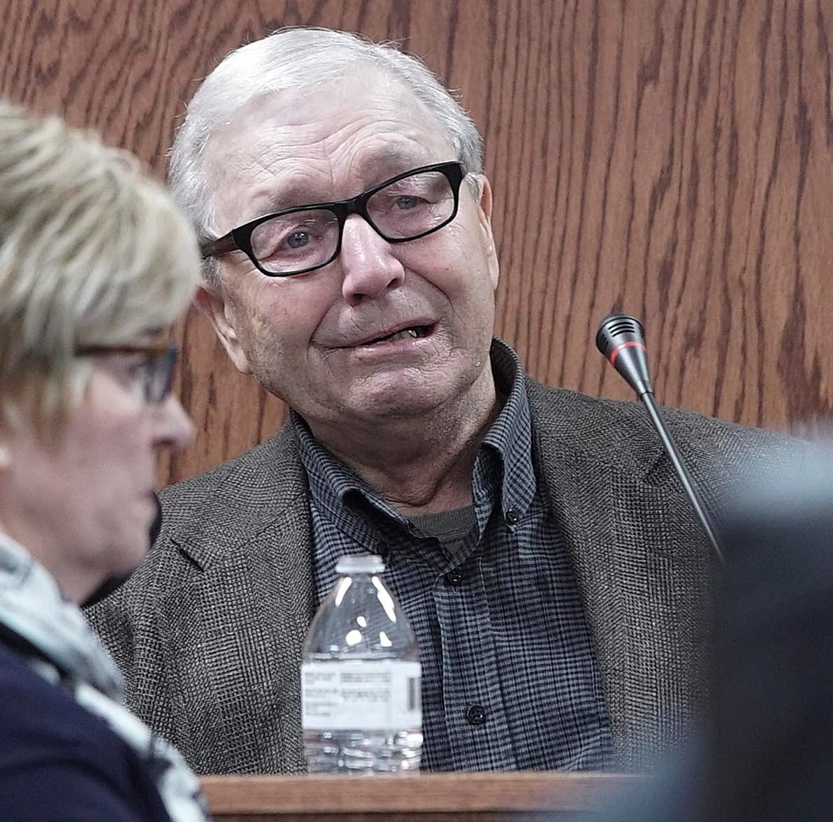 'Mom's dead': At son's murder trial, father tearfully recalls day that altered his life