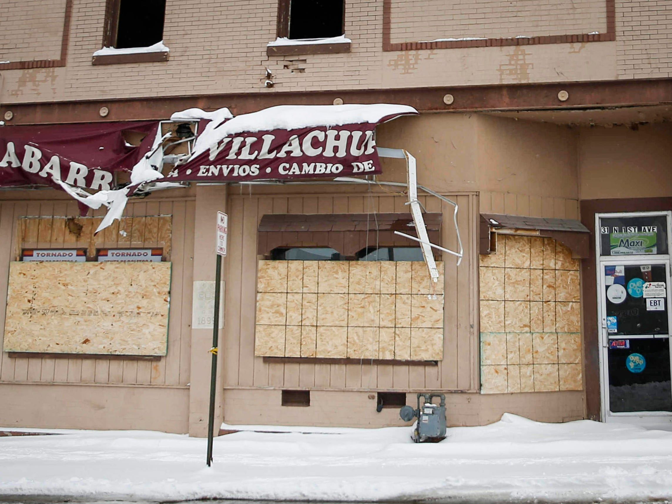 Work continues on this Mexican restaurant in Marshalltown more than half a year after an EF-3 tornado ripped across downtown, toppling foundations and causing more than $1 million in property damage.