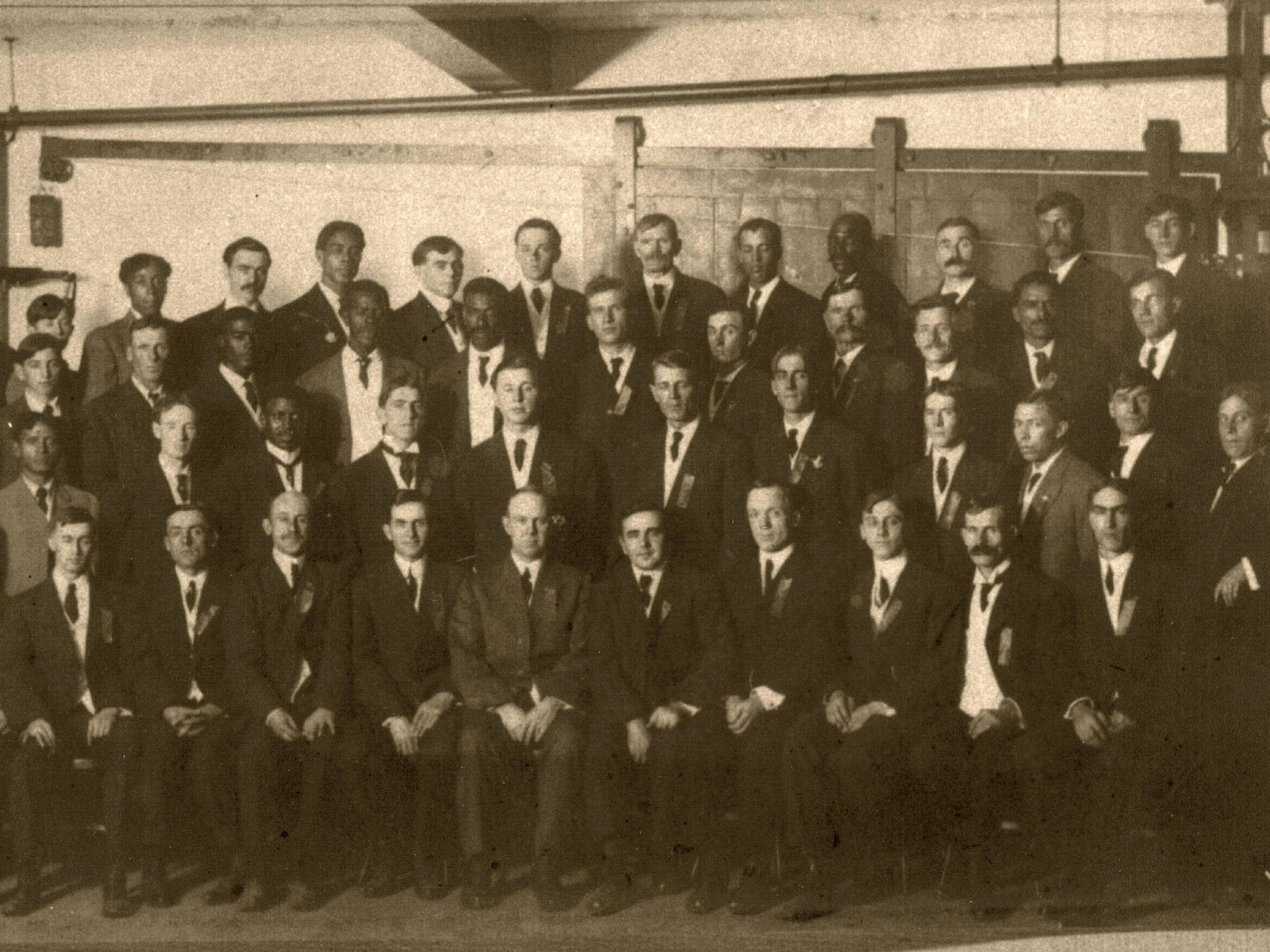 Buxton businessmen in the early 1900s.
