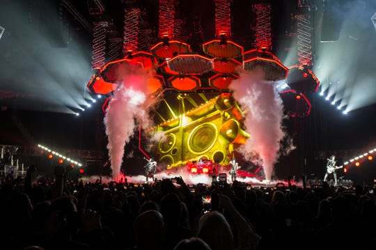 KISS performs on the End of the Road World Tour at Little Caesars Arena in Detroit on Wednesday, March 13, 2019.