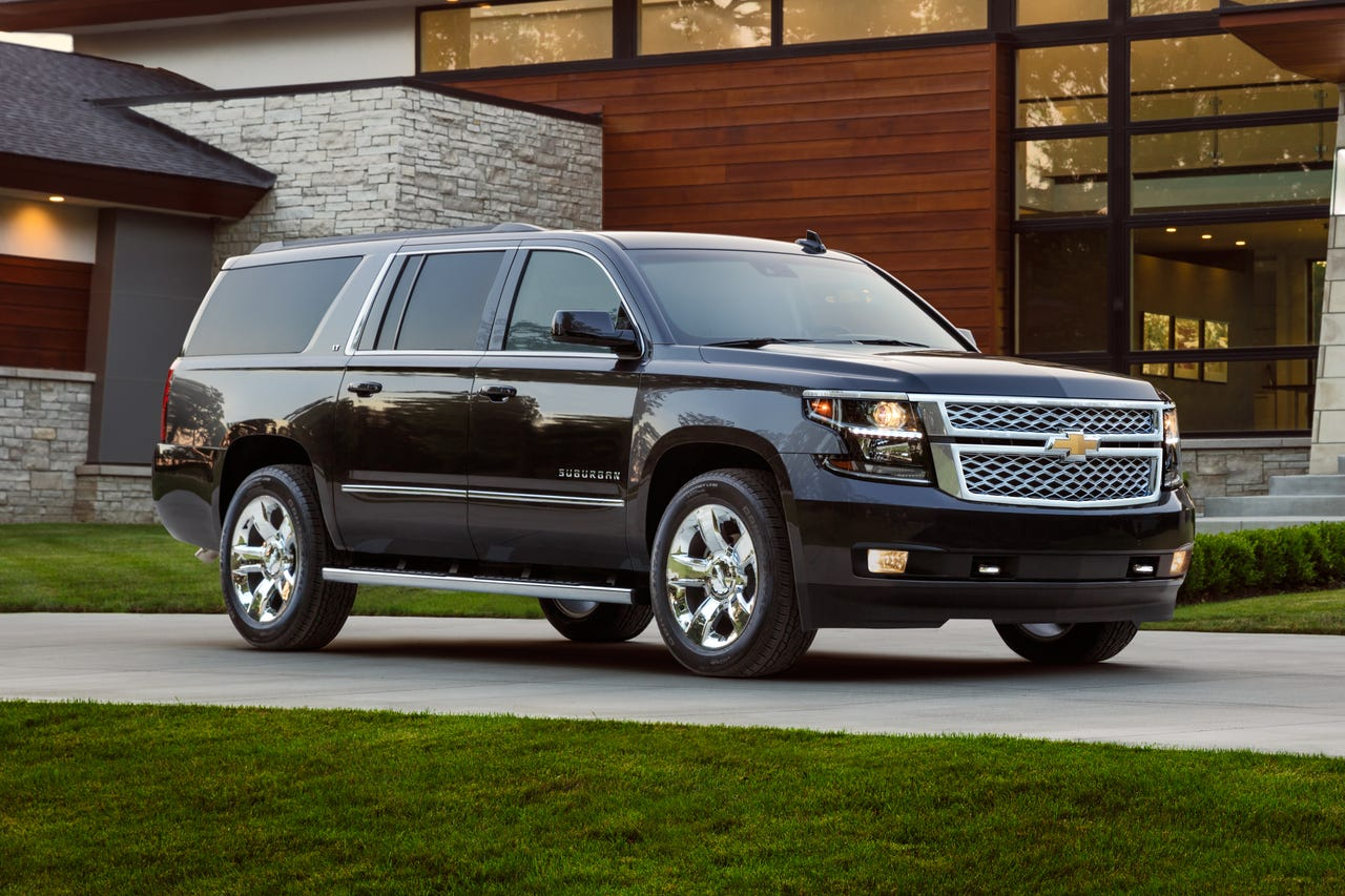 General Motors will reveal a redesigned version of the Chevrolet Suburban in December 2019. Here, the 2018 Suburban is pictured.
