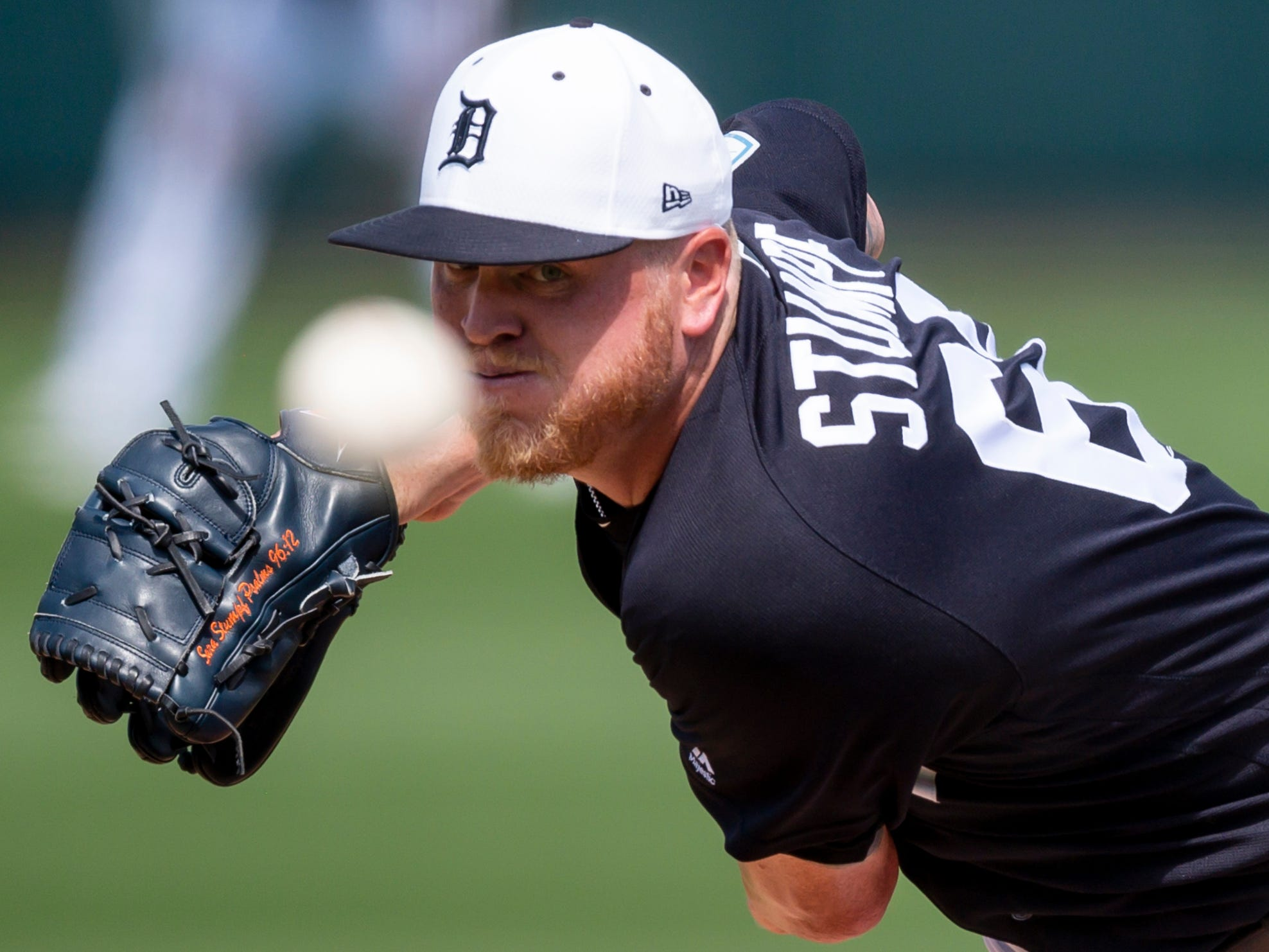 Detroit Tigers pitcher Daniel Stumpf throws a pitch during the sixth inning against the Boston Red Sox at Joker Marchant Stadium in Lakeland, Fla. on March 14, 2019.