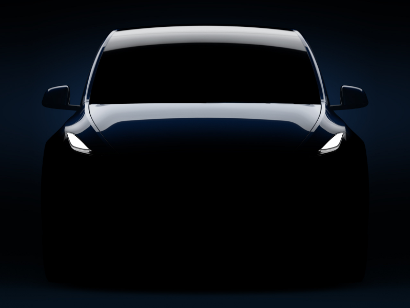 Tesla teased this image of the Tesla Model Y ahead of its Thursday night reveal.