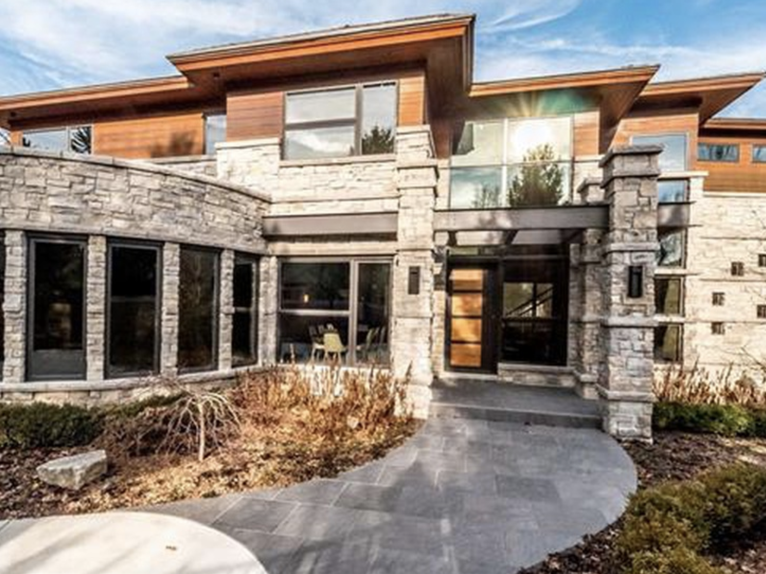The contemporary-style, four bedroom, 5,214 square-foot home is listed for $4.9 million.