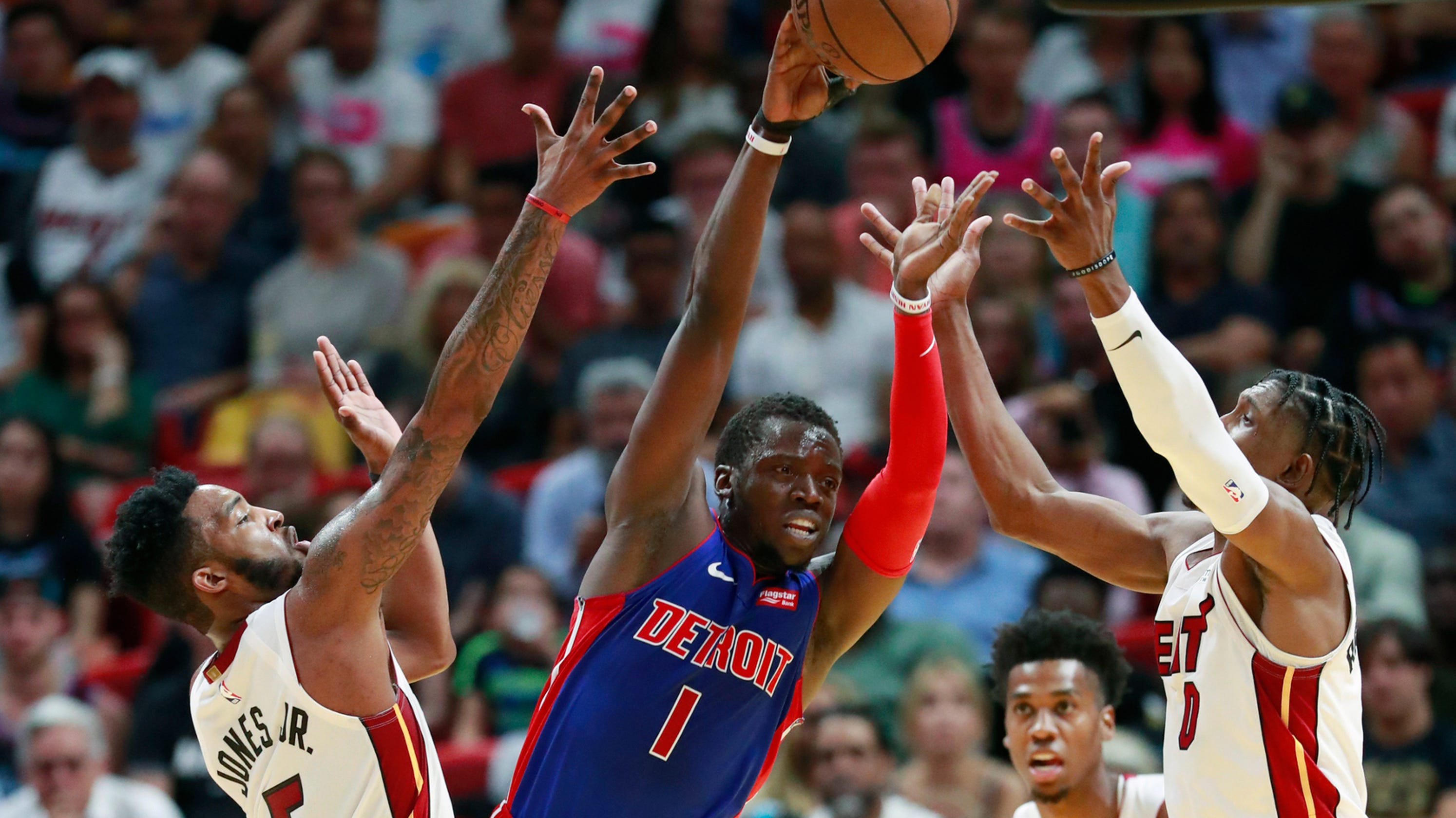 81bb6b605 Detroit Pistons  Reggie Jackson  not worried  about ankle injury
