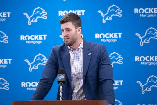 New Lions tight end Jesse James says he feels like his game can reach new heights in Detroit.
