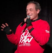 Retired Red Wings player, Darren McCarty does stand-up comedy.