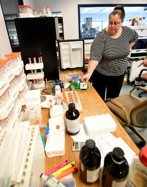 Maya Murshak is one of the owners of Merit Labs in East Lansing, which does PFAS testing and is certified by multiple agencies.