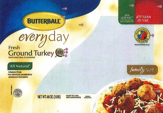 Butterball is recalling more than 78,000 pounds of raw ground turkey over fears that the products may be contaminated with salmonella.