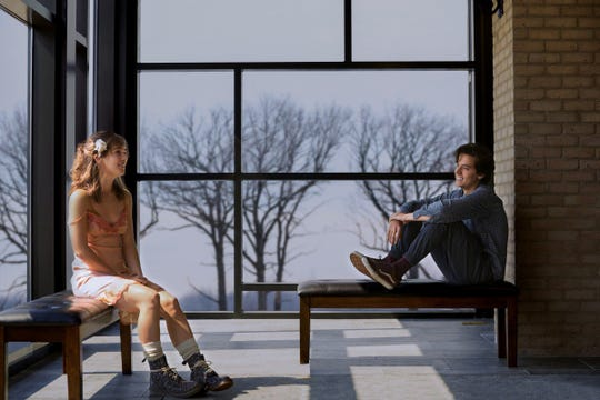 "Haley Lu Richardson and Cole Sprouse in ""Five Feet Apart."""