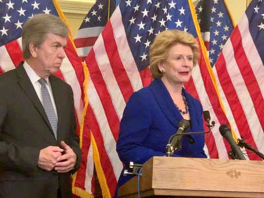 Sens. Debbie Stabenow, right, and Roy Blunt want to expand their pilot program funding mental health services in community health clinics.
