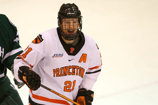 Former Princeton forward Ryan Kuffner, 22, signed a two-year entry-level contract Tuesday with the Red Wings.