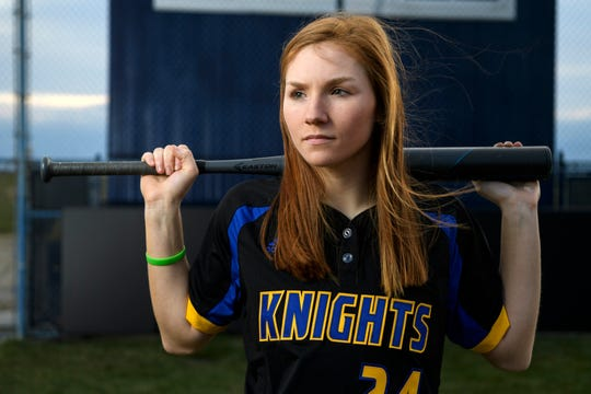 Castle senior Hannah Hood poses at Lockyear Field. The Knights are ranked No. 4 in Class 4A.