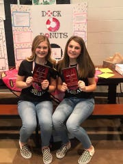 "Addi Siefke and Claudia Gillum were the grand champions of the Port Clinton Middle School Entrepreneur Fair with their business plan for ""Dock's Donuts""!"