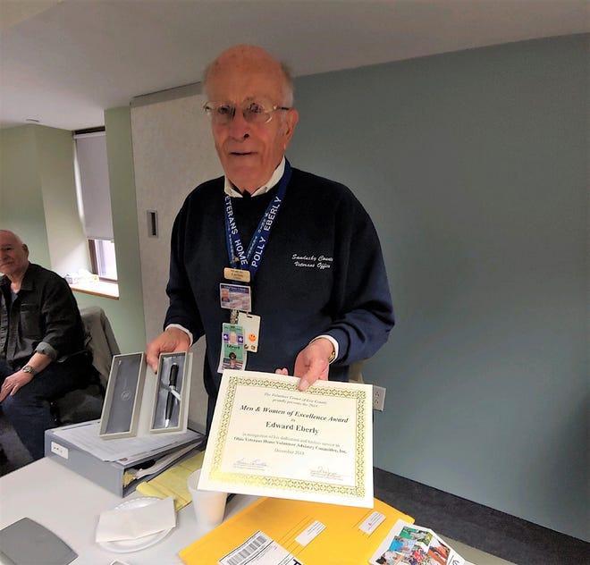 Fremont resident Joe Eberly  was recognized with a reward  from the Volunteer Center of Erie County.