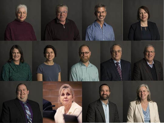 Thirteen people are running for seats on Fort Collins City Council. They are, top row: Susan Gutowsky, Glenn E. Haas and Joe Somodi for District 1; Kristen Stephens for District 4; second row: Lori Brunswig, Emily Gorgol and Fred Kirsch for District 6; Michael Pruznick and Wade Troxell for mayor; bottom row: Adam Eggleston, Susan Holmes, Noah Hutchison and Julie Pignataro for District 2.