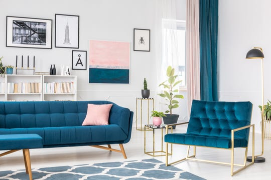 Think of accent colors in a room like accessories for your outfit. That can help you decide when enough is enough, or when a room needs just a little something extra.