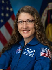 Official astronaut portrait of Christina Koch of Livingston.