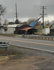 Damage was made to a building in Waverly after the strong winds and tornadoes made their way through Union County on Thursday morning.