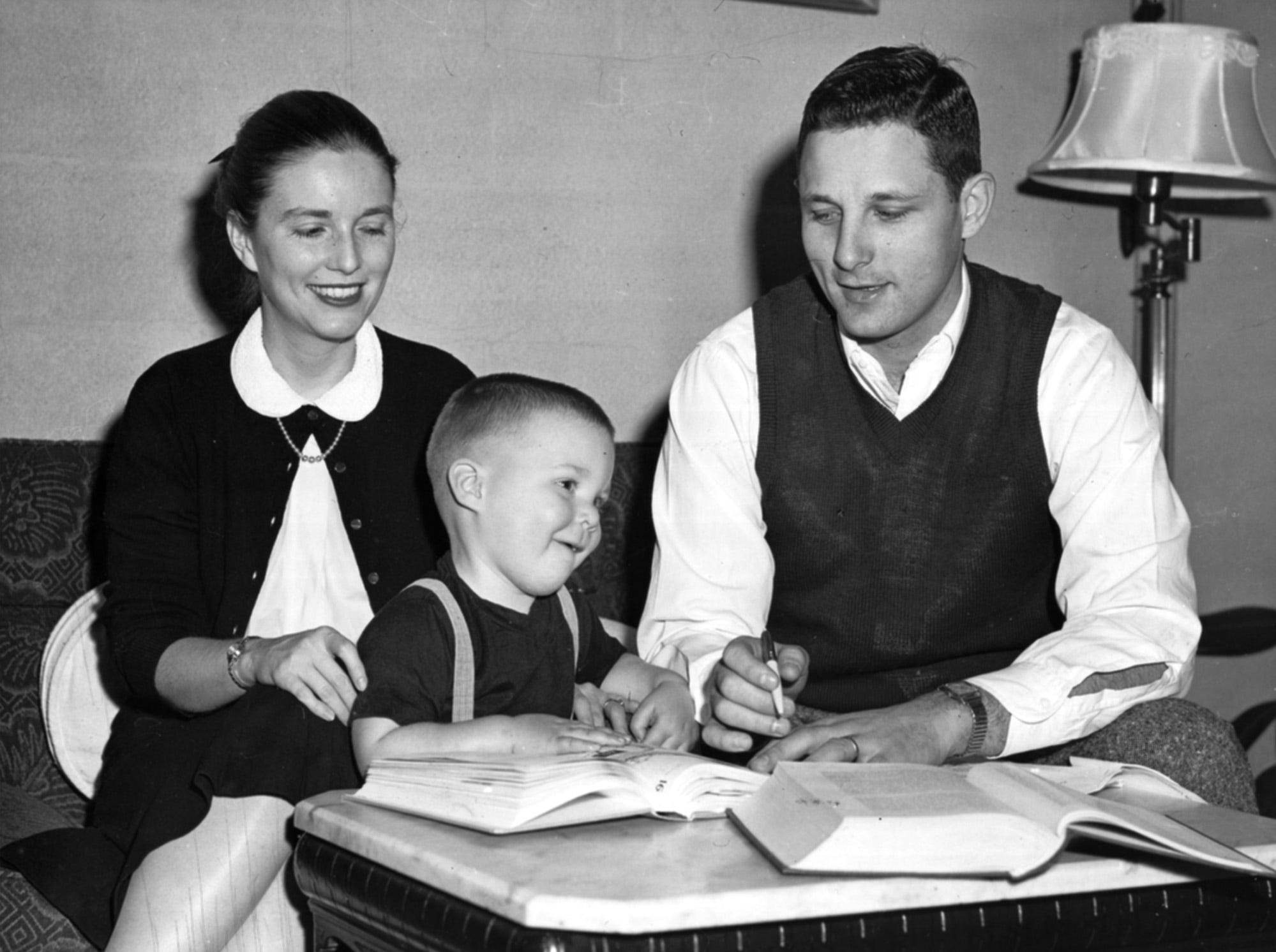At only two years of age, Evan Bayh, son of Marvella and Birch Bayh, was already attracting attention. In January 1958, the Bayhs had just moved to Bloomington while Birch, a state representative, worked on a law degree at Indiana University.