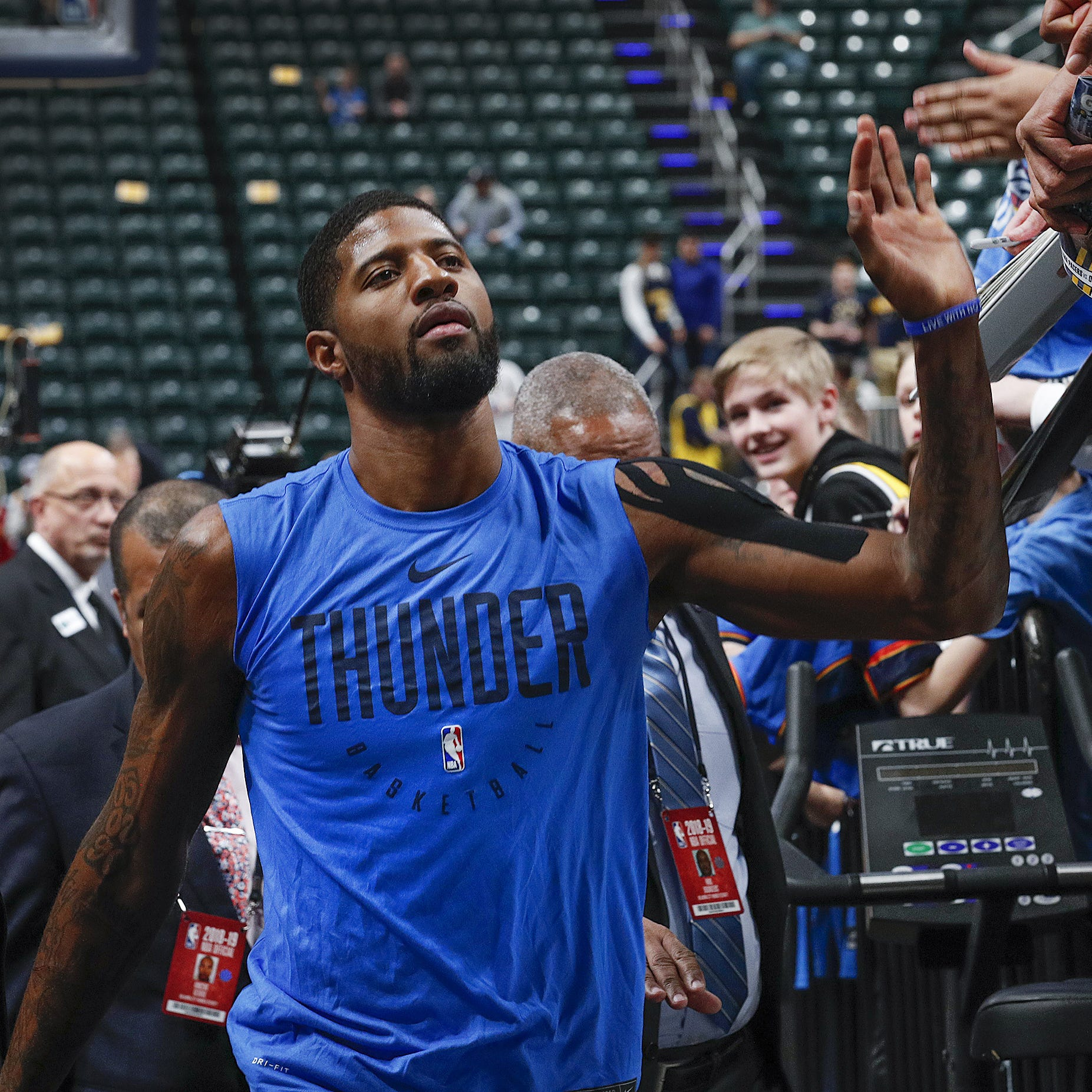 Paul George dominates the Indiana Pacers early, stumbles late