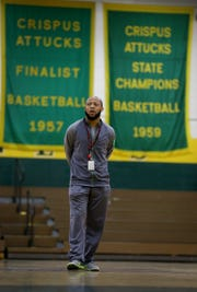 Crispus Attucks coach Chris Hawkins led the Tigers to the 2017 Class 3A state title.