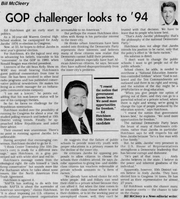 A profile on candidate Ed Hutchison from the Sept. 6, 1993, edition of The Indianapolis News.