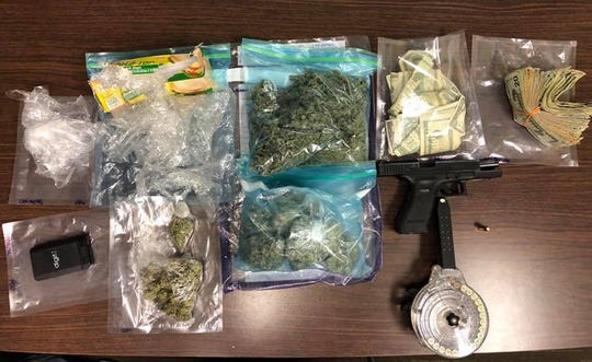 Drugs, money and a gun were seized by the Brookhaven Police Department.