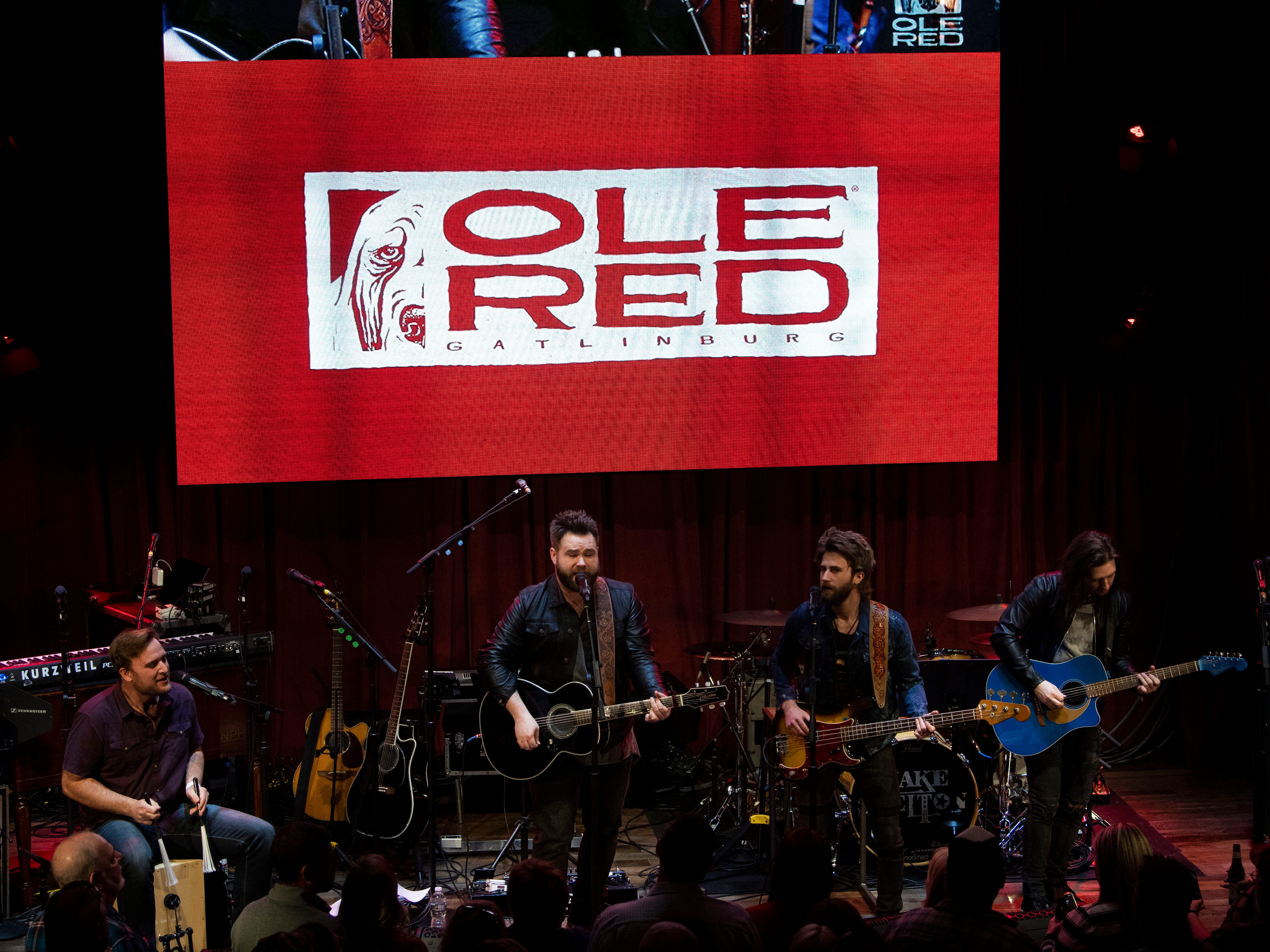 The Voice contestants, The Swon Brothers open for Blake Shelton at the grand opening celebration of Ole Red Gatlinburg on Wednesday, March 13, 2019.