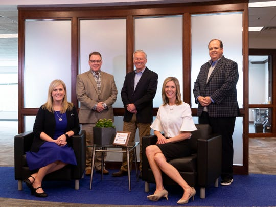 PerferctServe executive team, from left, Trisha Brady, vice president of human capital;  David Winenger, chief financial officer; Terry Edwards, president and CEO; Mary Hatcher, vice presidend of product development, and Ken Wilmoth, vice president of technical operations.