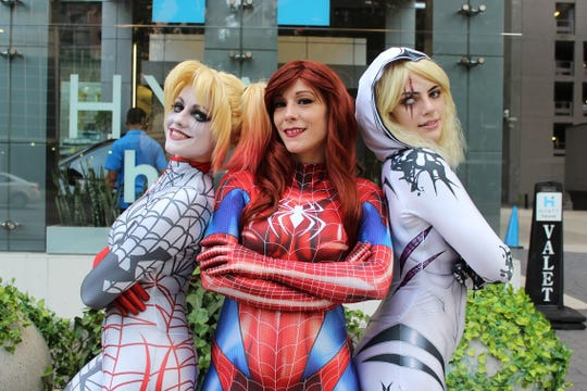 Miss OoLaLa, left, Lady Luna Loveless and Alyssa Lorina visited the Daily Advertiser to talk about their favorite cosplay costumes and what it's like to find one's ideal nerd community.