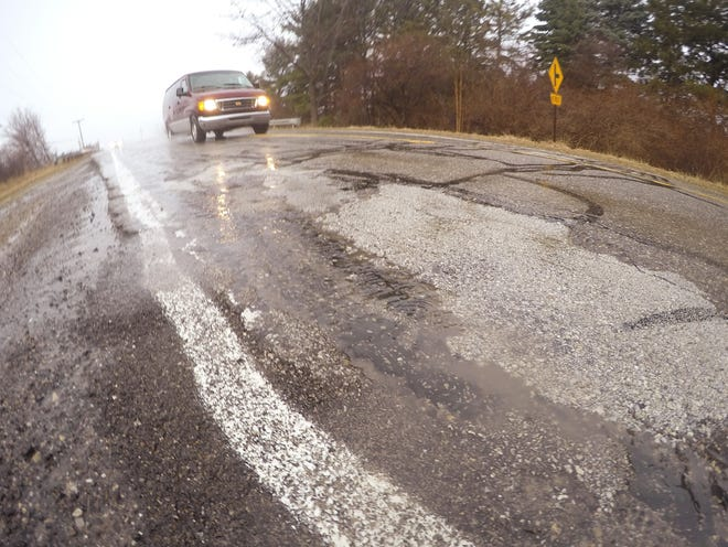 Dorr Road. north of Crooked Lake Road in Genoa Township, shown Thursday, March 14, 2019, is one of the deteriorating roads in Livingston County expected to be repaved this year.