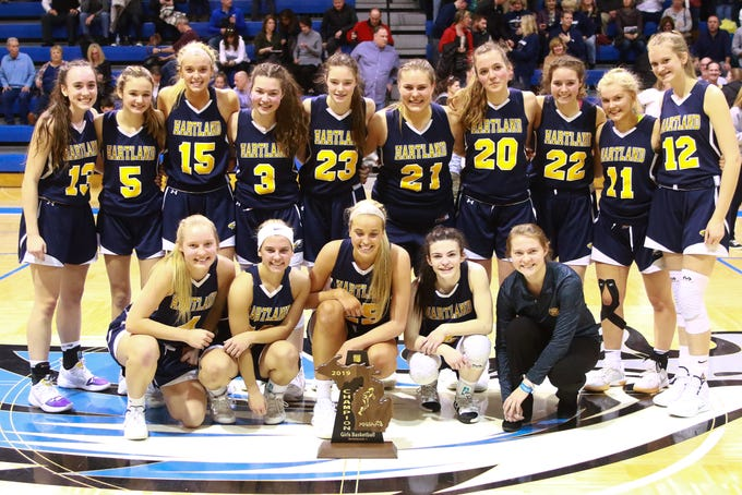 Hartland has won three regional basketball championships in the past five seasons.