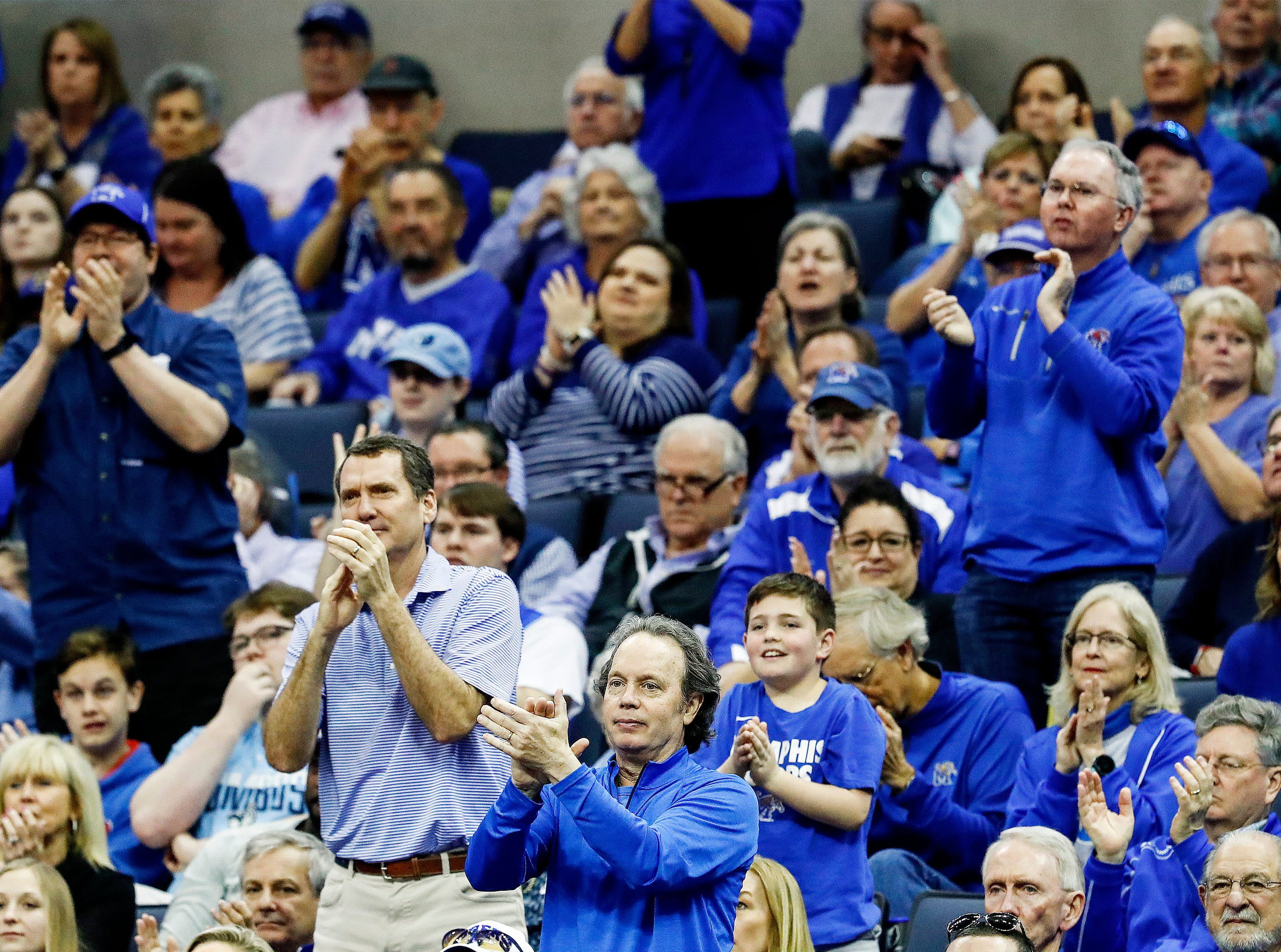 Memphis fans during action against Tulane in their first round AAC Tournament game at the  FedExForum, Thursday, March 14, 2019.