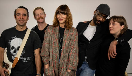 The band Rose of the West  (from left, Thomas Gilbert, Dave Power, Gina Barrington, Cedric LeMoyne and Erin Wolf) has its self-titled debut album due out April 5.