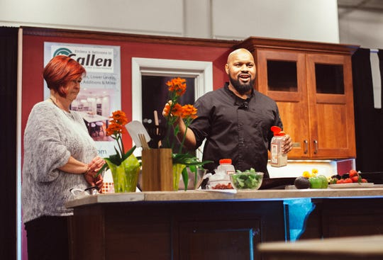 Chefs lined up for cooking demos at the Realtors Home & Garden Show include Trueman McGee of Funky Fresh Spring Rolls, shown here at last year's show.