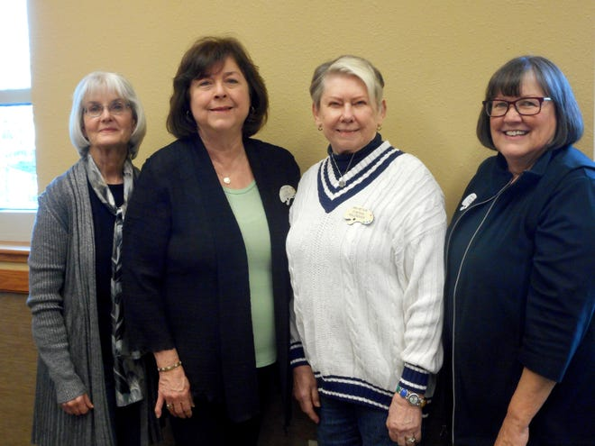 The Area Art Club has elected its officers for 2019. They are: (from left)Karen Jones, Secretary; Lisa Gordon, Vice President; Cynthia Malenshek, President; and Ginger Turk, Treasurer. The Area Art Club invites the public to save the date for Area Art Club's 50th Anniversary Celebration of their Annual Art Show. Art fans willwant to be at Mountain Home High School on the weekend of June 21-23 for this special event.The $1,000 High School Art Scholarship will be announced, along with ribbons and prizes in eight categories.Look for additional details as it gets closer to the event. The Area Art Club meets in Mountain Home and has members from north central Arkansas and south central Missouri.Please join them on the second Thursday of the month at 1 p.m. at the library in Mountain Home. Call 492-6736 for additional information.